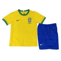 Kids Brazil Home Jersey 2021