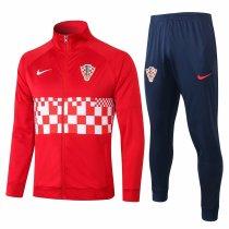 Mens Croatia Jacket + Pants Training Suit Red 2020/21