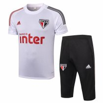 Mens Sao Paulo FC Short Training Suit White 2020/21