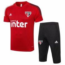 Mens Sao Paulo FC Short Training Suit Red 2020/21
