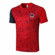 Mens France Short Training Jersey Red 2020/21