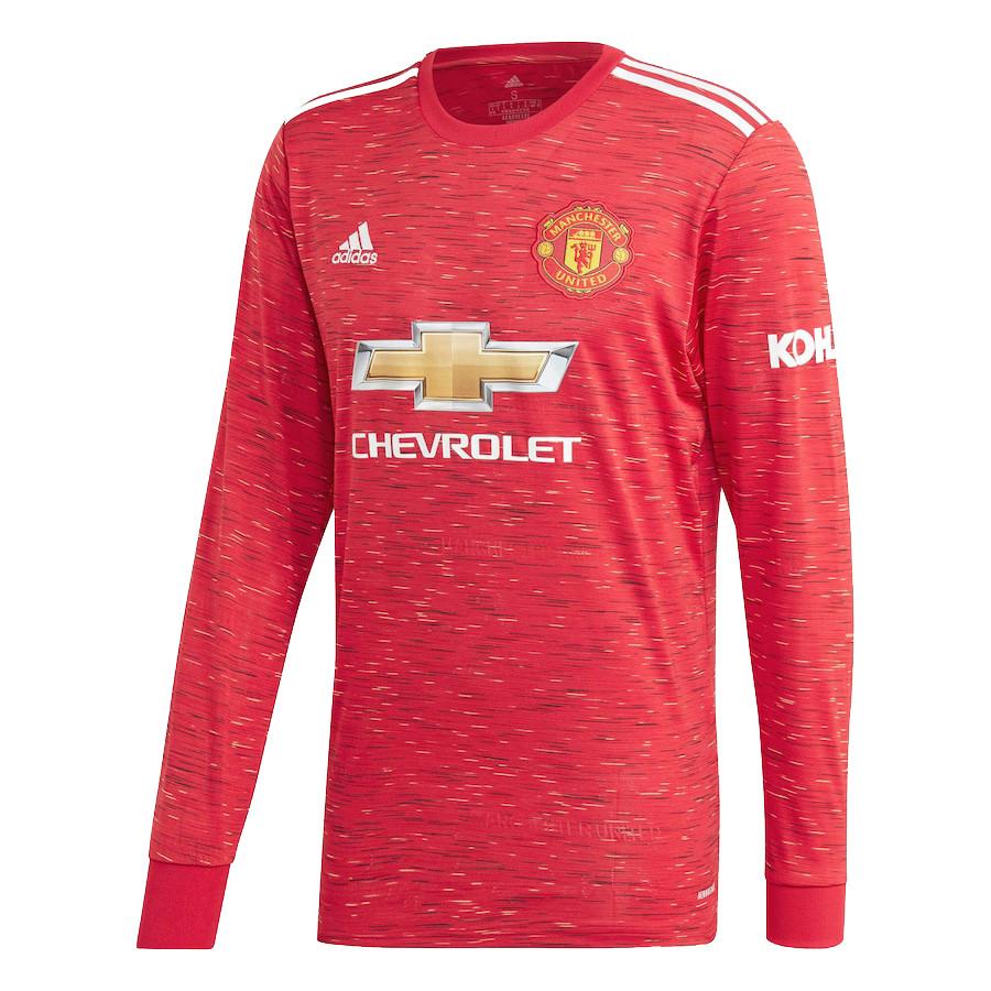 US$ 16.8 - Manchester United Home Jersey Long Sleeve Mens 2020/21 - www.fcsoccerworld.com