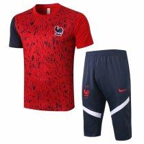 Mens France Short Training Suit Red 2020/21