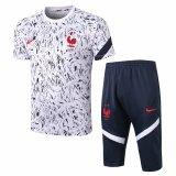 Mens France Short Training Suit White 2020/21