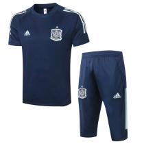 Mens Spain Short Training Suit Navy 2020/21