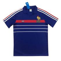 France Retro Home Jersey Mens 1984-1986