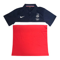 Mens France Polo Shirt Navy- Red 2020/21