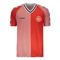 Denmark Retro Home Jersey Mens 1986