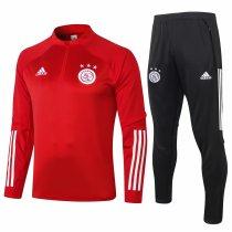 Mens Ajax Training Suit Red 2020/21