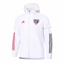 Mens Sao Paulo FC All Weather Windrunner Jacket White 2020/21
