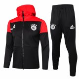 Mens Bayern Munich Hoodie Jacket + Pants Training Suit Black 2020/21
