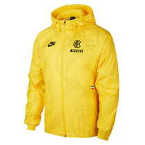 Mens Inter Milan All Weather Windrunner Jacket Yellow 2019/20