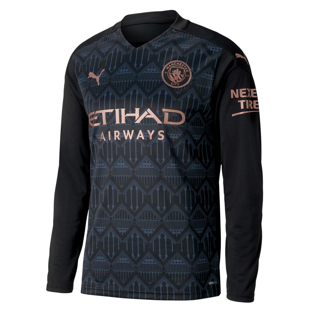 US$ 16.80 - Manchester City Away Jersey Long Sleeve Mens ...