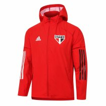 Mens Sao Paulo FC All Weather Windrunner Jacket Red 2020/21