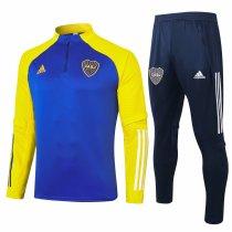 Mens Boca Juniors Training Suit Blue - Yellow 2020/21