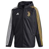Mens Juventus All Weather Windrunner Jacket Black 2020/21