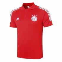 Mens Ajax Polo Shirt Red 2020/21