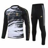 Mens Juventus Training Suit Crew Neck Black 2020/21