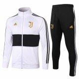 Mens Juventus Jacket + Pants Training Suit White-Black 2020/21