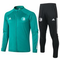Mens Feyenoord Jacket + Pants Training Suit Green 2020/21