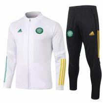 Mens Celtic FC Jacket + Pants Training Suit White 2020/21