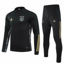 Mens Ajax Training Suit UCL Black 2020/21