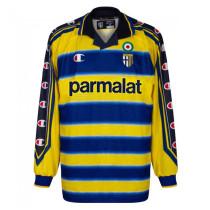 Mens Parma Calcio Retro Home Jersey Long Sleeve 1999/2000