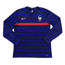 France Home Jersey Long Sleeve Mens 2020