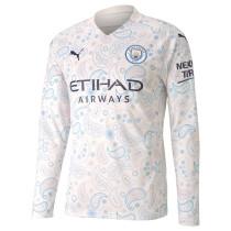 Manchester City Third Jersey Long Sleeve Mens 2020/21