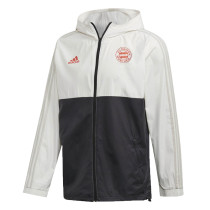 Mens Bayern Munich All Weather Windrunner Jacket White - Black 2020/21