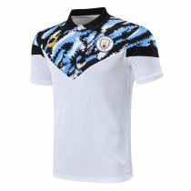 Mens Manchester City Polo Shirt White 2020/21