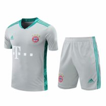Bayern Munich Goalkeeper Grey Jersey + Shorts Set Mens 2020/21
