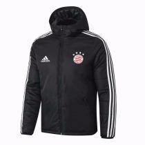 Mens Bayern Munich Winter Jacket Black 2019/20