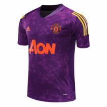 Mens Manchester United Short Training Jersey UCL Purple 2020/21