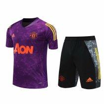 Mens Manchester United Short Training Suit UCL Purple 2020/21
