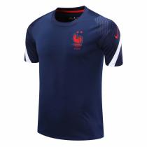 Mens France Short Training Jersey Navy 2020/21