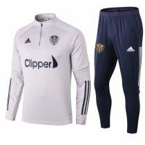 Mens Leeds United Training Suit Light Grey 2020/21