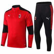 Mens AC Milan Training Suit Red 2020/21