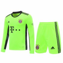 Bayern Munich Goalkeeper Yellow Long Sleeve Jersey + Shorts Set Mens 2020/21