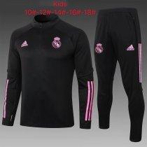 Kids Real Madrid Training Suit Black 2020/21
