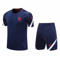 Mens France Short Training Suit Navy 2020/21