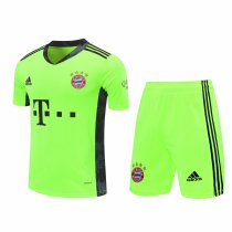 Bayern Munich Goalkeeper Yellow Jersey + Shorts Set Mens 2020/21