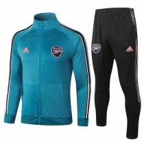 Mens Arsenal Jacket + Pants Training Suit Aqua Blue 2020/21