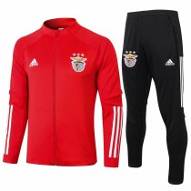 Mens Benfica Jacket + Pants Training Suit Red 2020/21