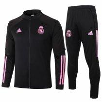 Mens Real Madrid Jacket + Pants Training Suit Black 2020/21