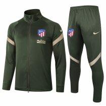 Mens Atletico Madrid Jacket + Pants Training Suit Olive Green 2020/21