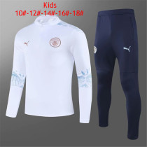 Kids Manchester City Training Suit White 2020/21