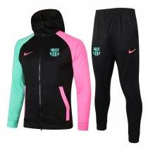 Mens Barcelona Hoodie Jacket + Pants Training Suit Black GP 2020/21