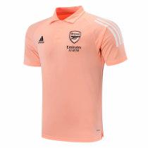 Mens Arsenal Polo Shirt UCL Chalk Coral 2020/21