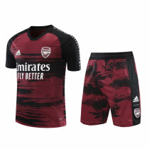 Mens Arsenal Short Training Suit UCL Red-Black 2020/21